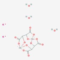 Dipotassium bis[mu-tartrato(4-)]diantimonate(2-) trihydrate